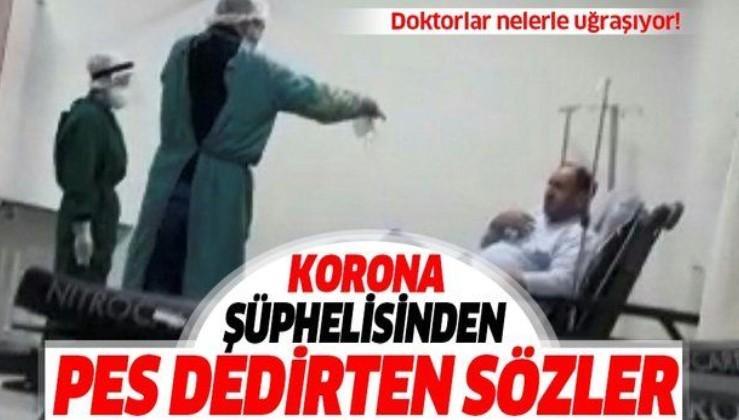 Bursa'da pes dedirten olay! Koronavirüs şüphesi olan hasta, maske takmamak için direnip doktorla tartıştı