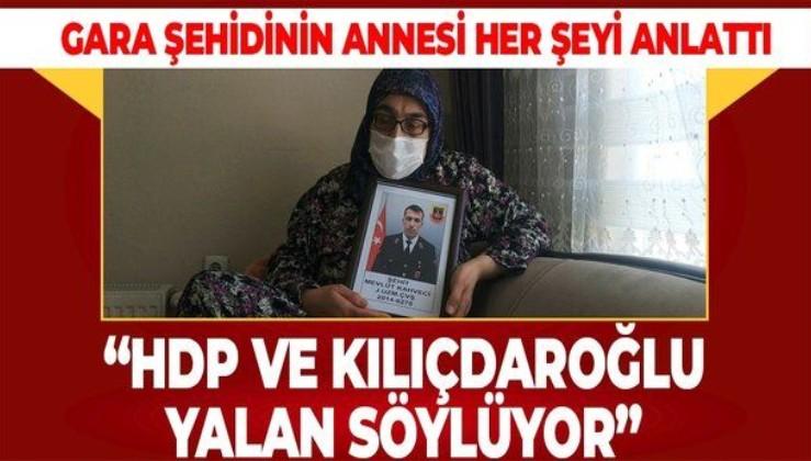 Eskişehirli Gara şehidi Mevlüt Kahveci'nin annesi Ayşe Güler PKK'nın iftirasını yalanladı
