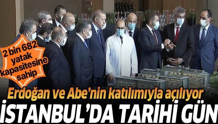 Başakşehir Çam ve Sakura Şehir Hastanesi Başkan Erdoğan ve Şinzo Abe'nin katılımıyla açılıyor