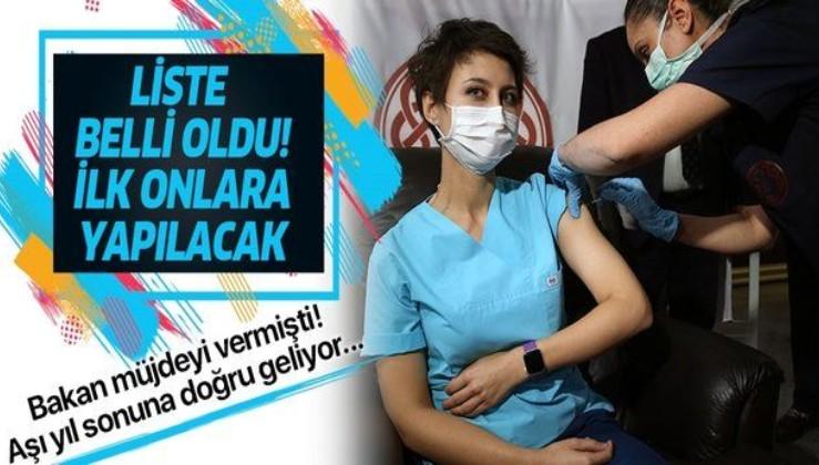 SON DAKİKA: Koronada aşı listesi çıkarılıyor: Öncelik verilecekler belli oldu