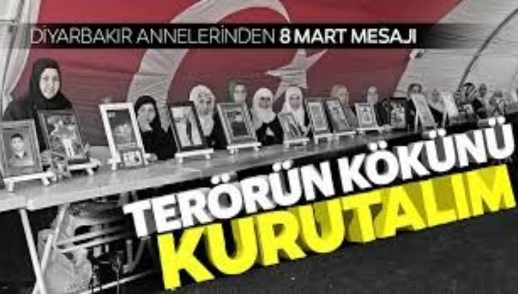 HDP önündeki annelerden kadınlara 8 Mart çağrısı: Terörün kökünü kurutalım