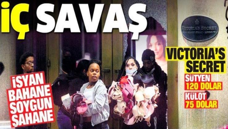 İsyan bahane soygun şahane: ABD'de protestocular Victoria Secret'ın mağazasını talan etti