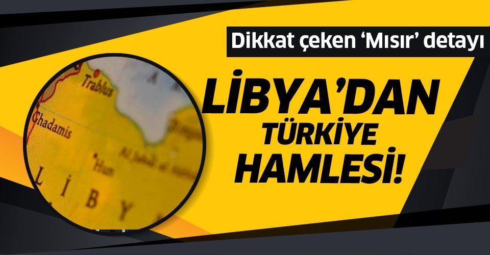 Libya'dan flaş 'Türkiye' hamlesi! UMH Mısır'a cevap verdi.