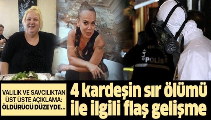 Son dakika: İstanbul'da 4 kardeşin sır ölümüyle ilgili flaş gelişme.