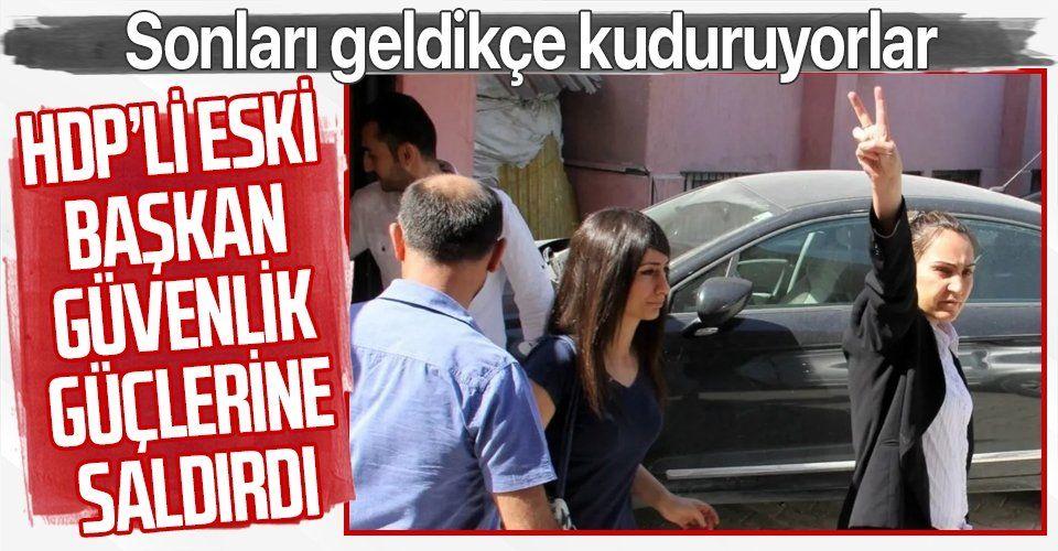 HDP'li eski başkan Dilek Hatipoğlu güvenlik güçlerine saldırdı! Çıplak arama ve darp iddiası da yalan çıktı