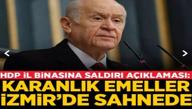 Bahçeli'den HDP'ye saldırıyla ilgili açıklama: ''Bu vahim olayın iç yüzü mutlaka deşifre edilmeli''