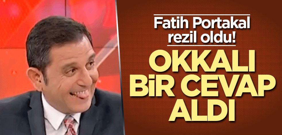 Fatih Portakal rezil oldu! Okkalı bir cevap aldı