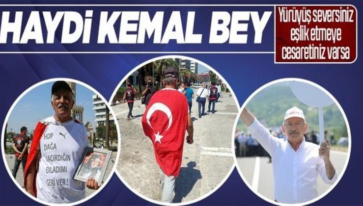 İzmir'de evlat nöbetini sürdüren baba Mehmet Laçin Ankara'ya yürüyüşe başladı
