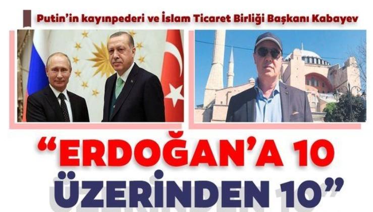 Rusya Başkanı Vladimir Putin'in kayınpederinden Türkiye ve Erdoğan'a övgü dolu sözler!