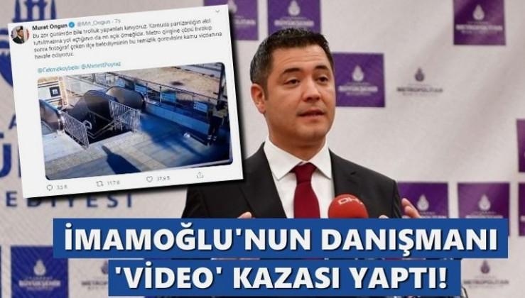 İmamoğlu'nun danışmanı Ongun, Twitter'da 'video' kazası yaptı