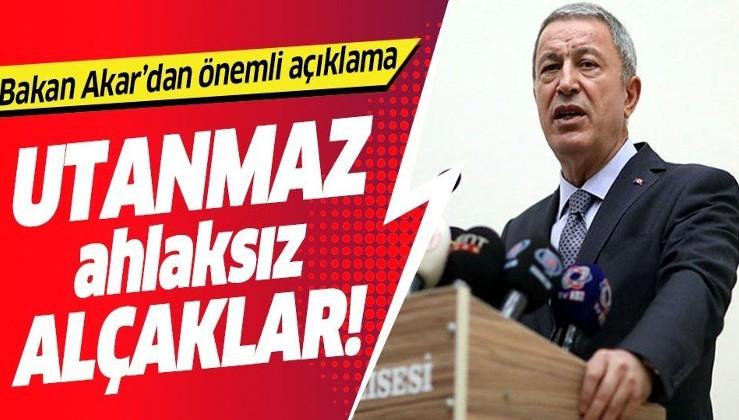 Milli Savunma Bakanı Hulusi Akar'dan kimyasal açıklaması! Türkiye'nin güney sınırındaki terör tehd .