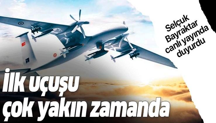 Selçuk Bayraktar canlı yayında duyurdu: İlk uçuşu çok yakın bir zamanda.