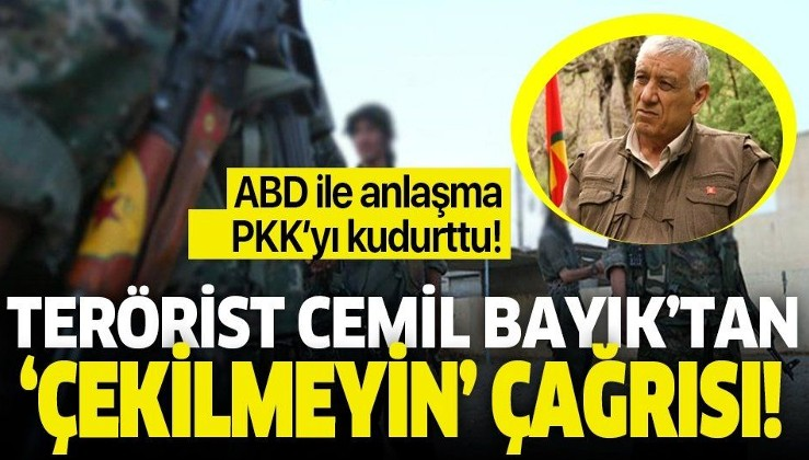 ABD ile yapılan anlaşma PKK'yı kudurttu! Cemil Bayık'tan YPG'ye 'çıkmayın' çağrısı!.