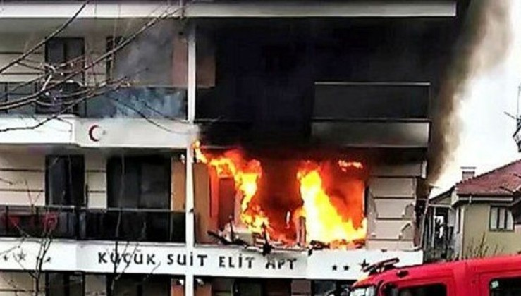 Denizli'de doğalgaz patlaması: Yaralılar var.