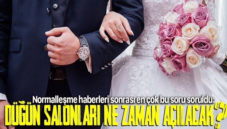 Evlenmek isteyenler dikkat! Düğün salonları ne zaman açılacak?
