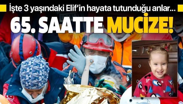 İzmir depreminin 65. saatinde mucize kurtuluş: 3 yaşındaki Elif Perinçek kurtarıldı