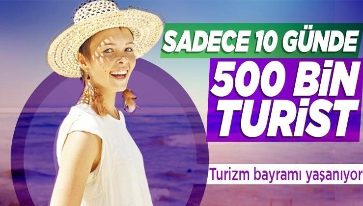 Antalya'ya sadece 10 günde 2.765 uçakla 509 bin turist