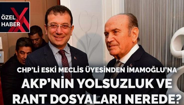 İmamoğlu AKP'lilerin yolsuzluk ve rant dosyalarını neden açıklamıyor?