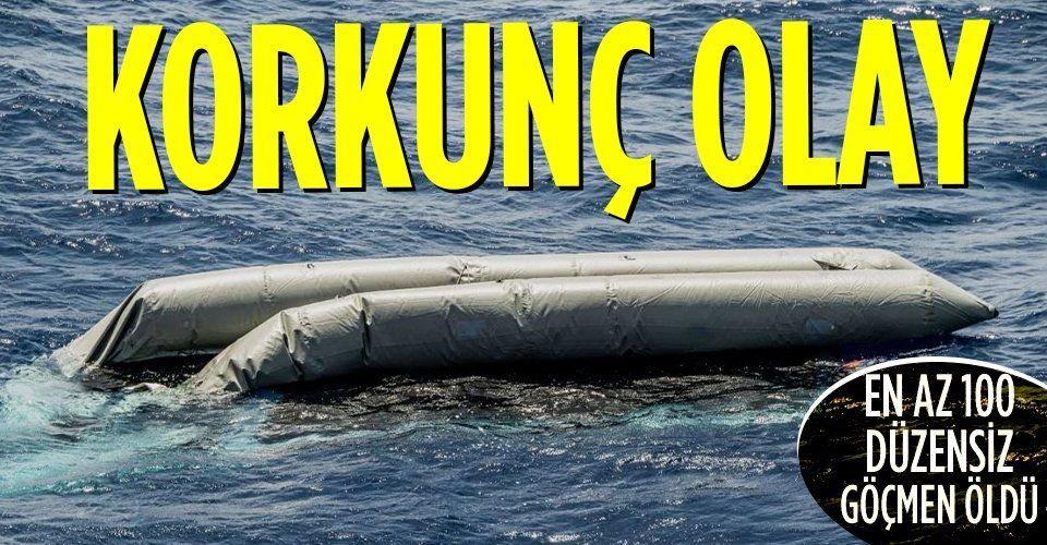 Son dakika! Akdeniz'de yaşanan tekne kazasında en az 100 düzensiz göçmen öldü