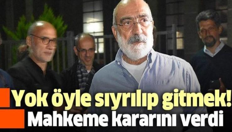 Son dakika: Anayasa Mahkemesi, FETÖ'den tutuklanan Ahmet Altan'ın bireysel başvurusunu kabul edilemez buldu