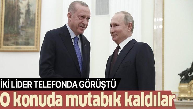 Son dakika: Cumhurbaşkanı Erdoğan, Rusya lideri Putin ile görüştü! Gündem Libya ve Suriye...