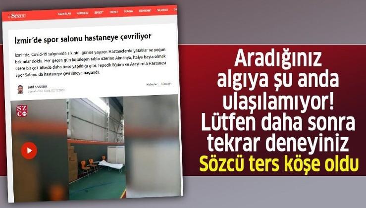 """İzmir Valiliğinden Sözcü'nün """"spor salonu salgın nedeniyle hastaneye çevrildi"""" iddiasına yalanlama!"""