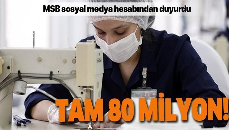 Milli Savunma Bakanlığı: MKEK ve Dikimevlerimizde üretilen maske sayısı 80 milyonu geçti