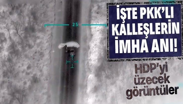 İşte Gara'da paramotor ile kaçmaya çalışan 3 PKK'lı teröristin imha anı