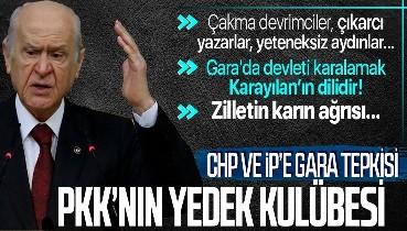 MHP Lideri Devlet Bahçeli'den CHP ve İYİ Parti'ye Gara tepkisi: PKK'nın yedek kulübesi