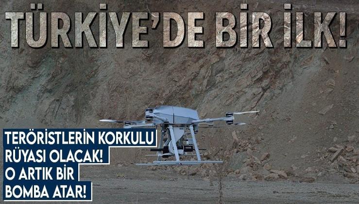 Türkiye'de bir ilk! Milli silahlı drone sistemi 'Songar' bomba atara dönüştü!