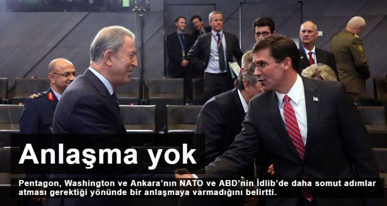 Pentagon: Türkiye ve ABD arasında İdlib'e dair bir anlaşmaya varılmadı