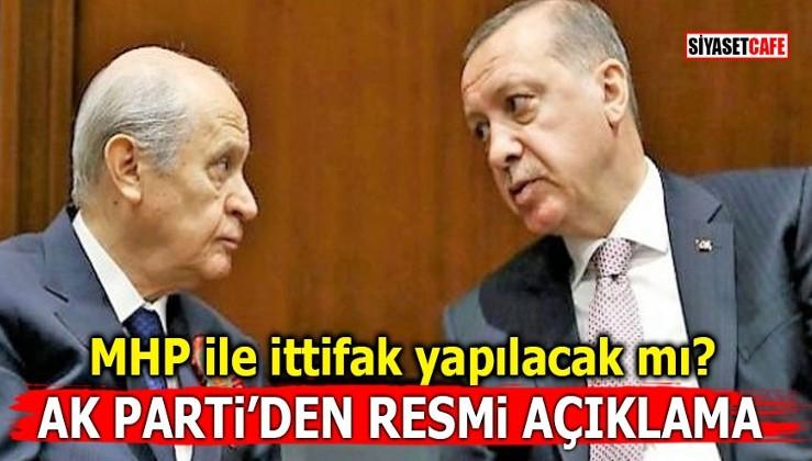 MHP ile ittifak yapılacak mı? Ak Parti'den resmi açıklama