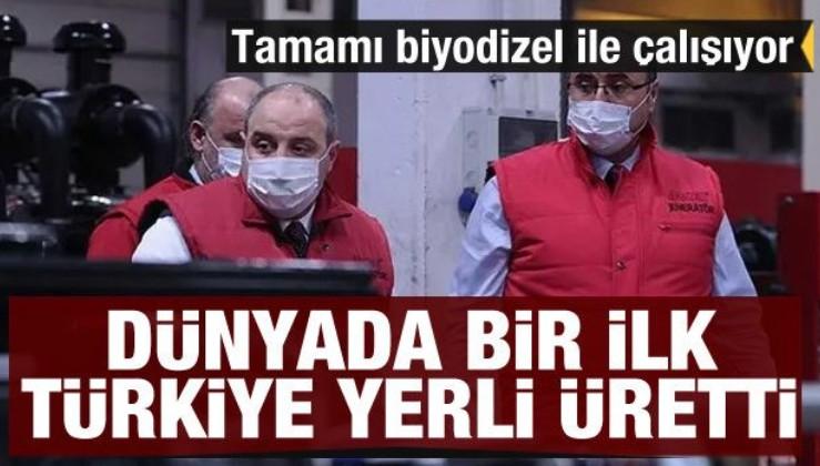 Dünyada bir ilk! Sadece Türkiye'de üretildi! Tamamı biyodizelle çalışıyor...