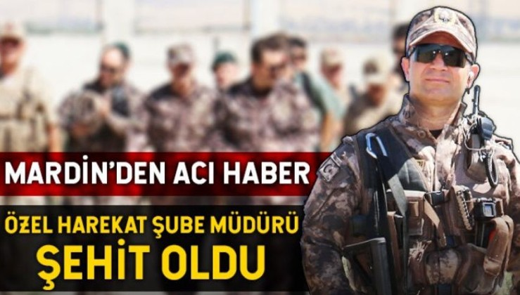 Son dakika: Mardin'de çatışma: 1 özel harekat polisi şehit oldu.