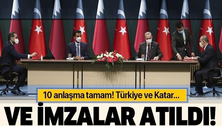 Son dakika: Türkiye ile Katar arasında işbirliği anlaşmaları imzalandı