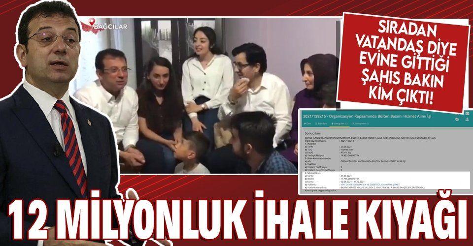 İBB Başkanı Ekrem İmamoğlu'ndan Saadet Partisi'ne 12 milyonluk ihale kıyağı