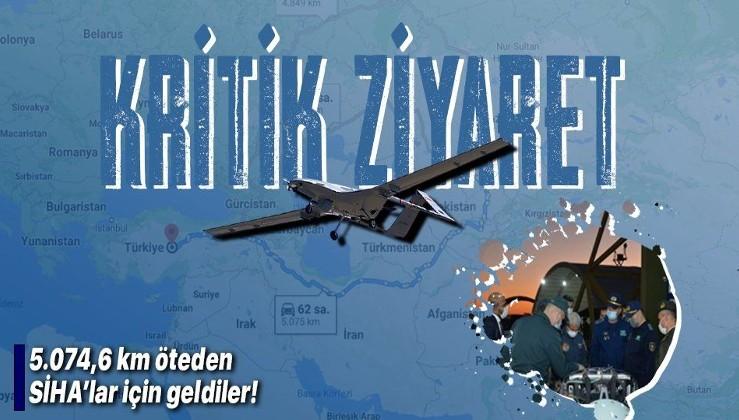 SİHA'lara büyük ilgi! Kazakistan'dan bir heyet SİHA'lar için Türkiye'ye geldi!