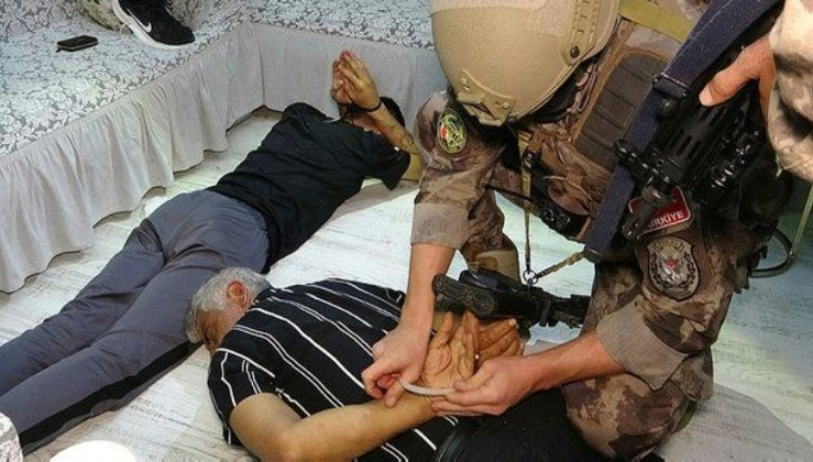850 polisle operasyon: 62 kişi tutuklandı