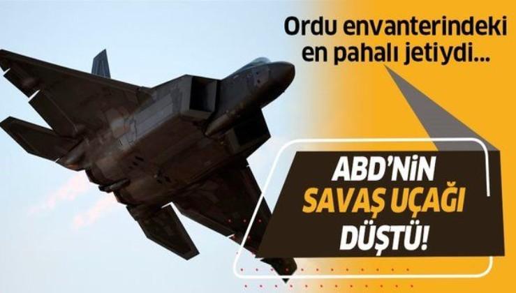 ABD ordusuna ait F-22 savaş uçağı düştü! En pahalısıydı...