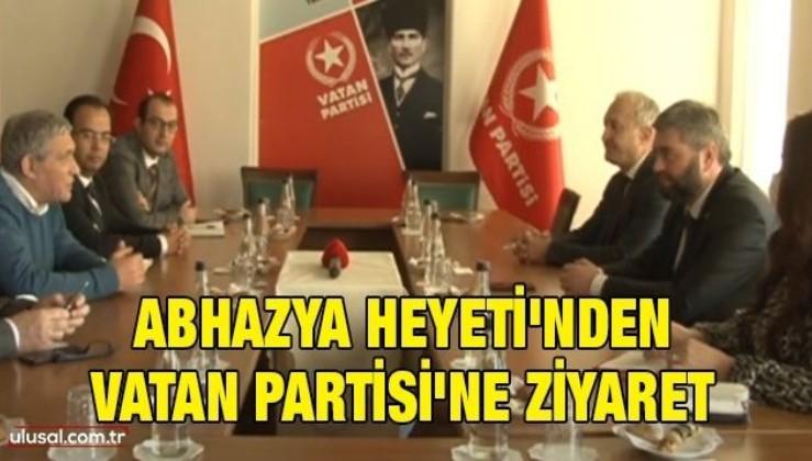 Abhazya Heyeti'nden Vatan Partisi'ne ziyaret