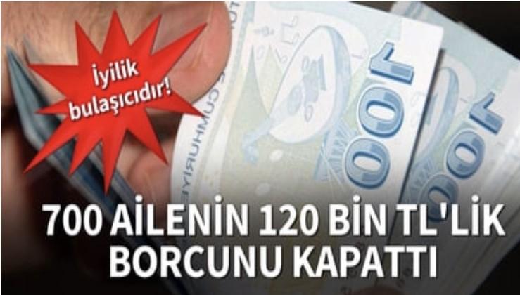 İş insanları, 700 ailenin 120 bin liralık veresiye borcunu kapattı