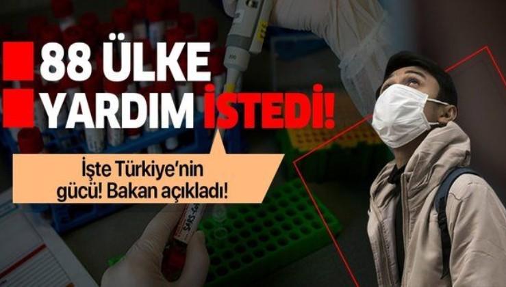 Dünya dostu Türkiye! Covid-19 ile mücadele sürecinde 88 ülke Türkiye'den yardım istedi....