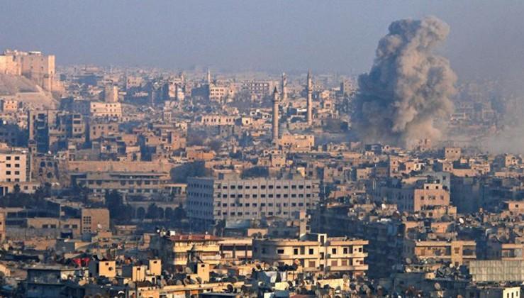 Teröristlerden Halep'e klorinli saldırı