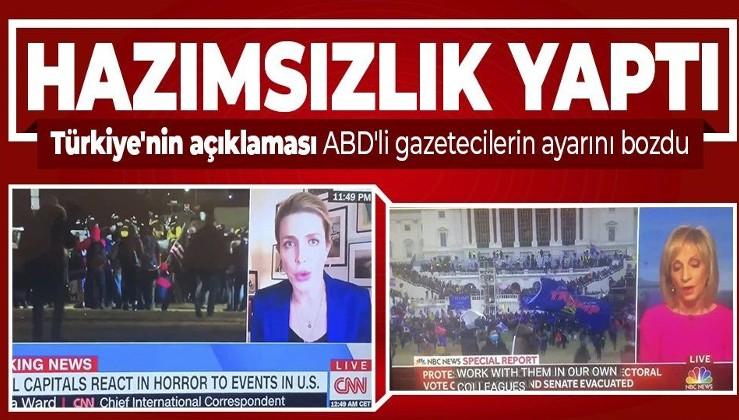 Türkiye'nin açıklaması ABD'de hazımsızlık yaptı! CNN ve NBC News spikerlerinin ayarı bozuldu