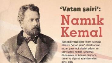 Vatan şairimiz Namık Kemal'i vefatının 132. yıl dönümünde saygı ve rahmetle anıyoruz