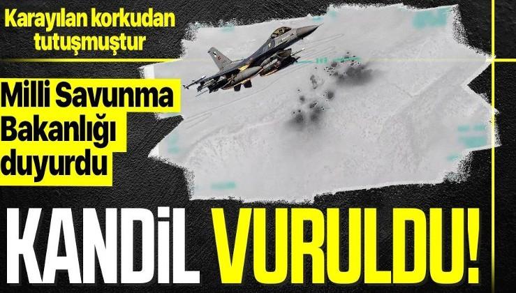 Kandil'de 4 hedef hava harekatıyla vuruldu