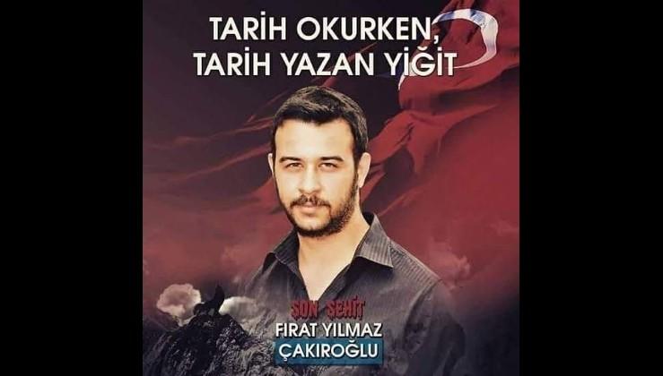 HDPKK'lılarca şehit edilen Fırat Yılmaz Çakıroğlu'na saygıyla!