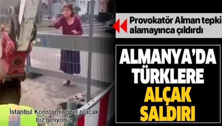 SON DAKİKA: Alman kadından Türklere alçakça sözlü saldırı: Sizi ait olduğunuz yere Asya'ya göndereceğiz