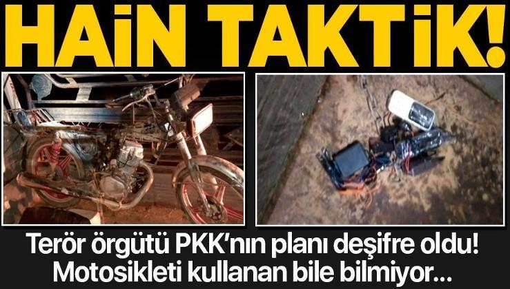 SON DAKİKA: Terör örgütü PKK/YPG'nin hain taktiği deşifre edildi: Motosikleti süren bile nerede olduğunu bilmiyor