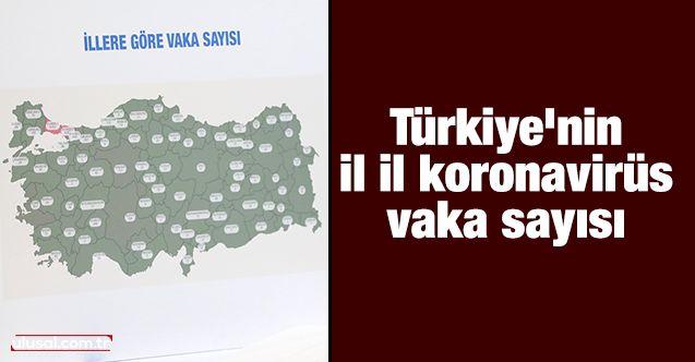 Türkiye'nin il il koronavirüs vaka sayısı: Tüm iller sıralı liste